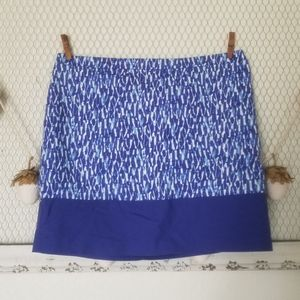 Michael Kors Royal Abstract Blue Mini Women Skirt